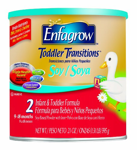 Enfagrow Soy Toddler, 2 Infant & Toddler Formula, 4 - 24 oz cans