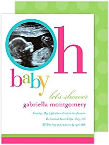 oh baby shower digital photo invitation health personal