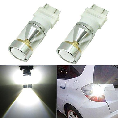 Alla Lighting Genuine CREE XB-D 3157 3156 T20 Xtremely Super Bright 6000K White LED Lights Bulbs for Auto Turn Signal Backup Reverse Brake Tail Lights Bulbs Lamp Replacement (3156/3157) (Pontiac 2002 Grand Am Tail Lights compare prices)