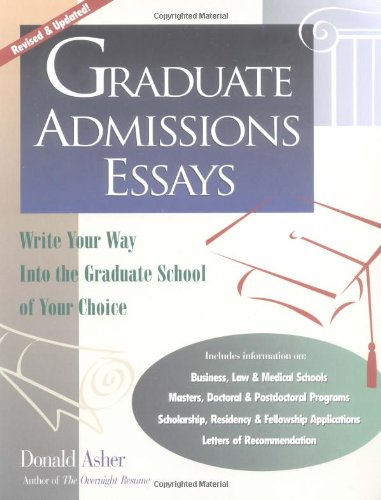 Best graduate school admission essays write of your choice