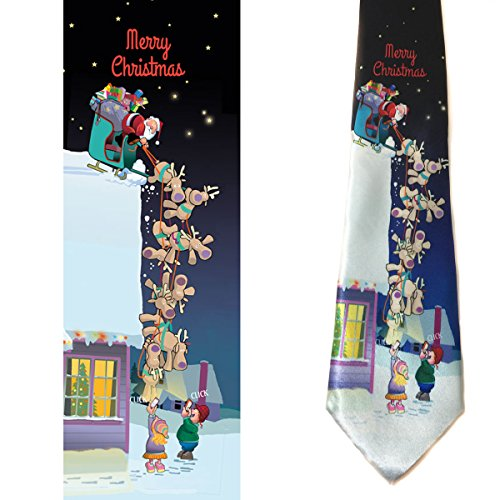 Stonehouse Collection Men's Funny Christmas Tie - Merry Christmas Necktie (Funny Men Ties compare prices)
