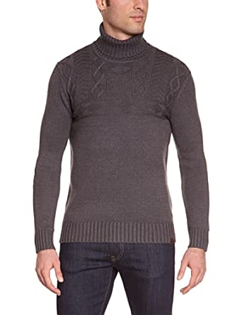 Mexx - Pull - Uni - Homme - Gris (Grey Stone Heather) - FR : XXL (Taille Fabricant : XL)