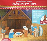 Christmas Gingerbread Cookie Nativity Kit Pre-baked Stable with Candy