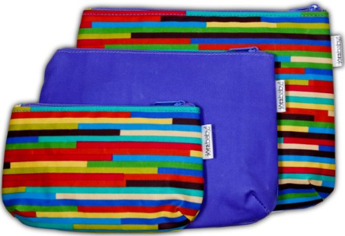 C.R. Gibson 3 Pack Iota Organizer Bags With Zippers, Baby Steps front-962583