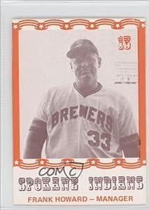 Frank Howard (Baseball Card) 1976 Spokane Indians Caruso #13 by Spokane Indians Caruso