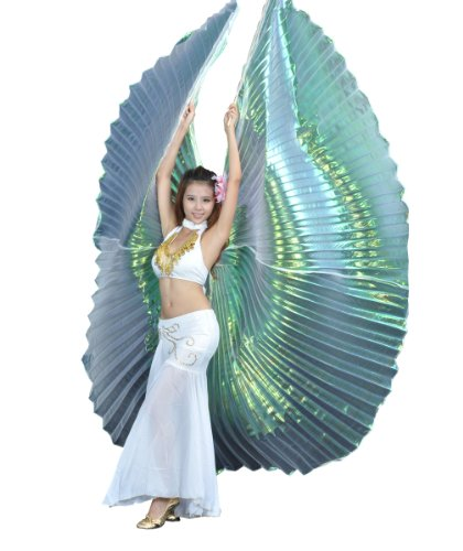 Colorful Yarn White Exotic style transparent Belly Dance Isis wings, costume props.