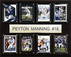 NFL Peyton Manning Indianapolis Colts 8 Card Plaque by C&I Collectables