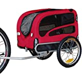 Original Doggyhut Medium Pet Bicycle Trailer Dog Carrier in Red 6030101
