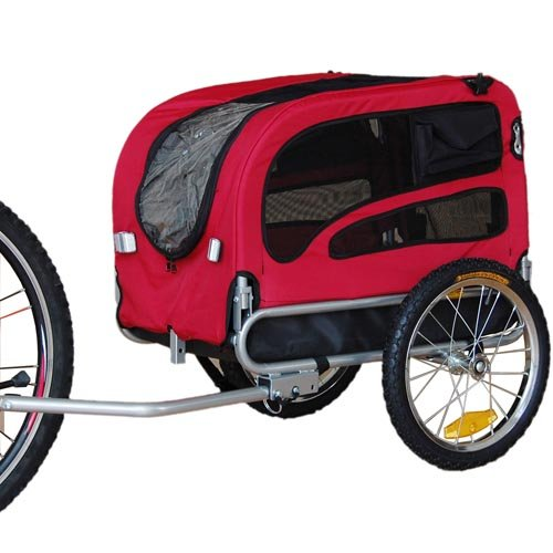Best Buy! Original Doggyhut Medium Pet Bicycle Trailer Dog Carrier in Red 6030101