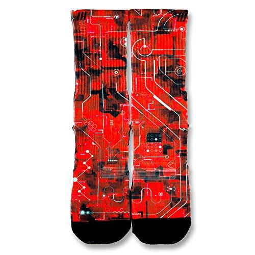 crimson-laser-red-custom-elite-socks-small-4-6-multi