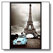 Paris Romantic Eiffel Tower Kissing Poster