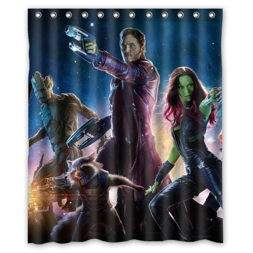 Generic Home Decoration Personalized Bath Curtain Popular America Pop Famous Film Movie Guardians of the Galaxy Printed Custom Shower Curtain 60x72 Inch (Guardians Of The Galaxy Decorations)