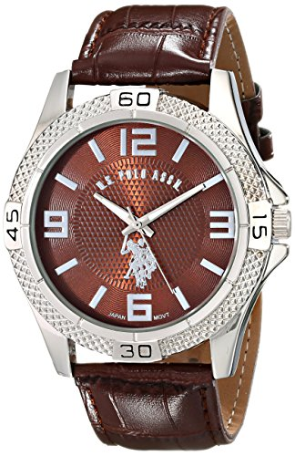 U.S. Polo Assn. Classic Men'S Usc50227 Analog Display Analog Quartz Brown Watch