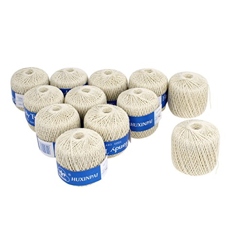 Cotton Packaging Tags Label Binding Sewing Twine 99M Long 12PCS Beige аудио наушники sennheiser наушники sennheiser ie 4