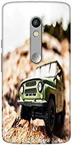 Snoogg 4X4 Offroad Car Designer Protective Back Case Cover For Motorola X Play