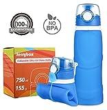 Jerrybox Faltbare Trinkflasche Medizinisches Silikon Wasserflasche 750ml