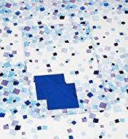 Blue Squares Sheet Wrapping Paper