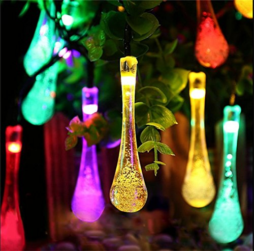 kitclan-20ft-30leds-solar-outdoor-string-lights-multi-color-water-drop-string-lights-christmas-water
