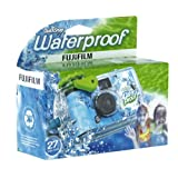 Fujifilm 7025227 Quick Snap Waterproof 35mm Single Use Camera (Blue/Green/White) (OLD MODEL) ~ Fujifilm
