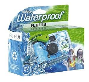 Fujifilm 7025227 Quick Snap Waterproof 35mm Single Use Camera (Blue/Green/White) (OLD MODEL)