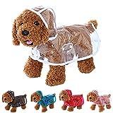 【全5色】 雨 でも お 散歩 犬 用 レイン コート クリア 透明 なので インナー 見せで 重ね着 も S M L XL (クリア, S)