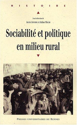 Sociabilite et politique en milieu rural annie antoine for En milieu rural