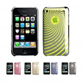 NEON GREEN TWIST Apple iPhone 3G 3Gs 8GB 16GB 32GB Premium Metallic Coat Ultra Slim Fit Crystal Back Case Cover + Free Screen Protector (Many Colors Available)
