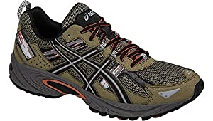 ASICS Men's Gel-Venture 5 Trail Runner, Dusky Green/Black/Cinnamon, 11.5 M US