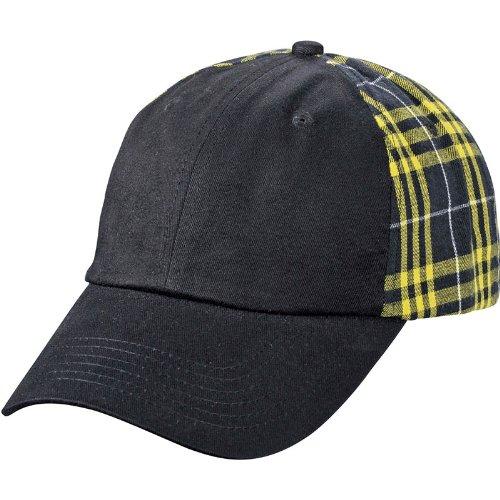 MYRTLE BEACH - Casquette à carreaux écossais - MB6558- coloris noir et jaune 2c9adf6f7db