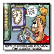 dpp_2239_1 Londons Times Funny Medicine Cartoons - Biological Time Clock Ticking - Wall Clocks - 10x10 Wall Clock