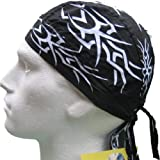 Fitted BANDANA Black & White Tribal