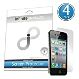 Infinite Products DeflectorShield Screen Protectors for iPhone 4 / 4S (4 Pack) ANTI-FINGERPRINT ~ Infinite Products