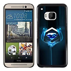Omega Covers - Snap on Hard Back Case Cover Shell FOR HTC ONE ( M9 ) - Blue Diamond