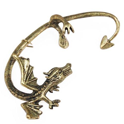 Ancient Flying Dragon Ear Wrap Cuff Gothic Earrings