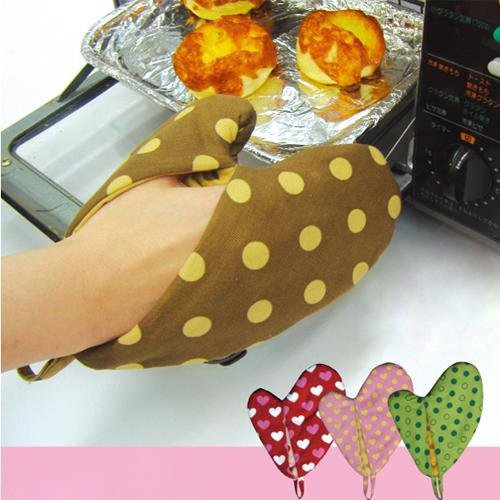 Sodial(R) Double-Sided Dual-Use Microwave Oven Mitts Random Color