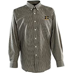 Antigua Mens Missouri Tigers Focus Cotton Polyester Woven Mini Check Button Dow by Antigua
