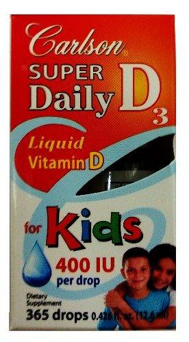 Carlson Super Daily D3 400 Iu For Kids 0.36 Fl.Oz (10.6Ml)
