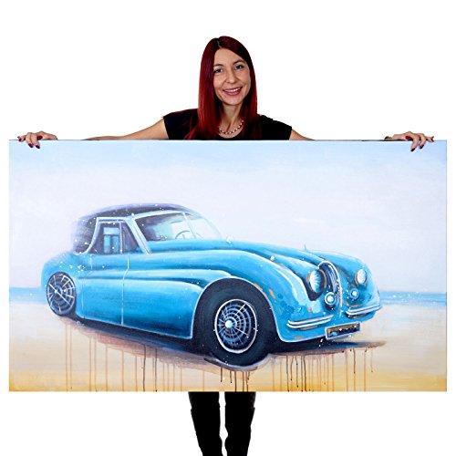 dipinto-a-mano-murale-3d-pittura-ad-olio-su-tela-140x80cm-auto-epoca