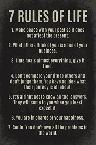 7 Rules Of Life, motivational