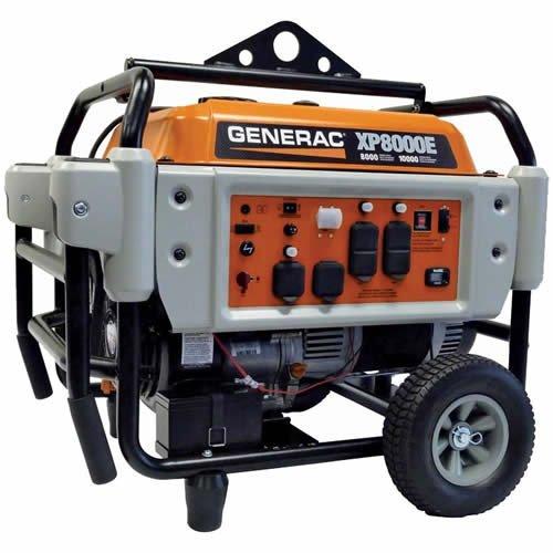 Generac Power Systems 5935 Professional Series Portable Generator With Electric Start, 8000-Watt