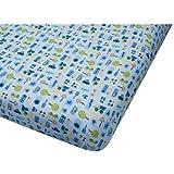 Big Oshi Jersey Knit 100% Cotton Fitted Crib Sheet, Traffic