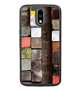 Colourful Wooden Blocks 2D Hard Polycarbonate Designer Back Case Cover for Motorola Moto G4 Plus :: Moto G4+