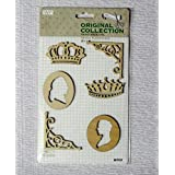 Asianhobbycrafts Vintage Wooden Scrapbooking Sticker Embellishments Home Decorations DIY : 1 Card : 1 Pack (WF03)