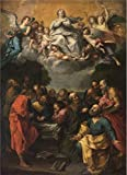 Oil Painting 'Kopie Naar Guido Reni - The Assumption Of Mary, 17th Century', 20 x 28 inch / 51 x 70 cm , on High Definition HD canvas prints is for Gifts And Bath Room, Gym And Study Room Decoration