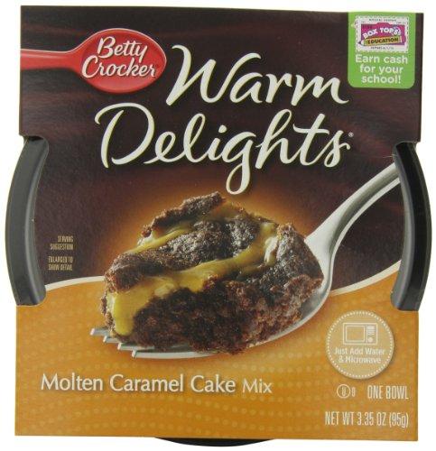 Betty Crocker Warm Delights, Molten Caramel Cake, 3.35-Ounce Bowls (Pack Of 8)