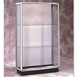 Prominence Unlighted Floor Case Chrome Sold Per EACH