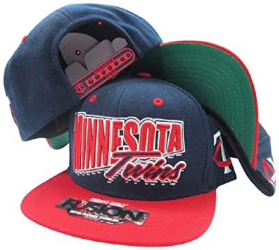 Minnesota Twins Navy/Red Fusion Angler Snapback Hat / Cap
