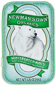 Newman's Own Organics Mints, Wintergreen, 1.76-Ounce Packages (Pack of 6)