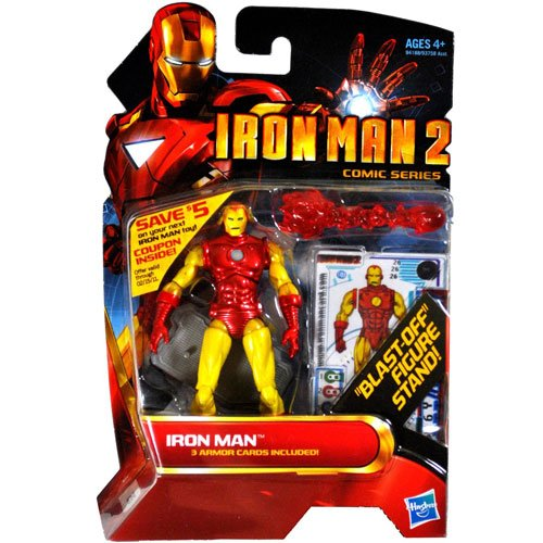 Iron Man 2 Comic Series > Classic Armor Iron Man with Blast Off Figure Stand Action Figure