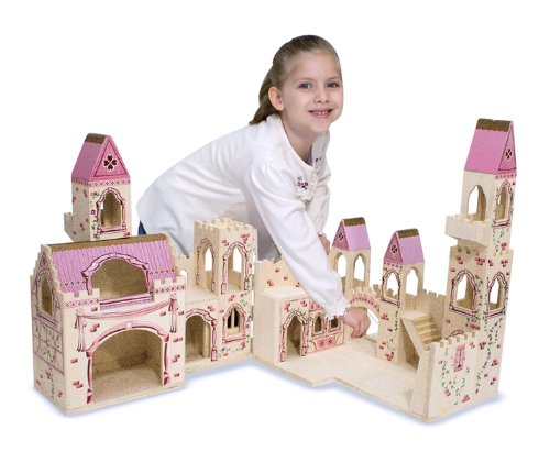 Melissa & Doug Deluxe Wooden Folding Princess Castle